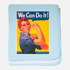 WWII POSTER WE CAN DO IT! baby blanket