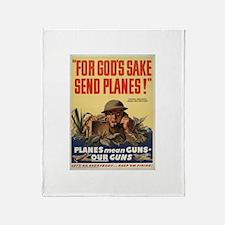 FOR GOD'S SAKE SEND PLANES Throw Blanket