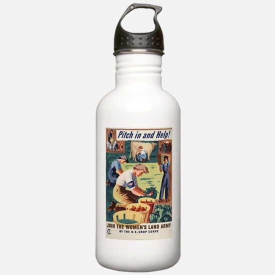 PITCH IN AND HELP! Sports Water Bottle