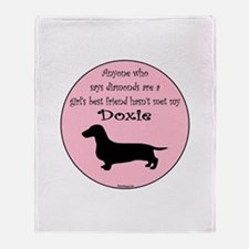 Girls Best Friend - Doxie Throw Blanket
