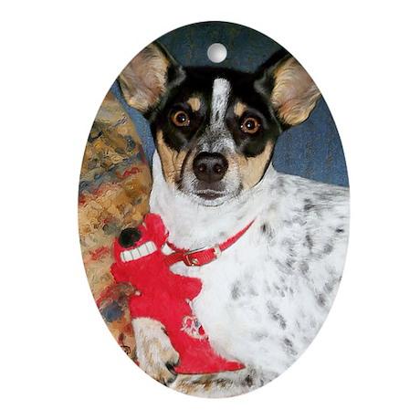 Rat Terrier Ornament (Oval)