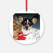 Rat Terrier Ornament (Round)