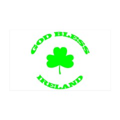 God Bless Ireland 38.5 x 24.5 Wall Peel