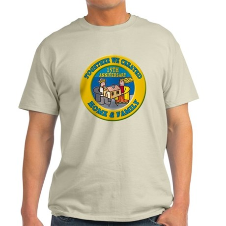 15th Wedding Anniversary Light T-Shirt