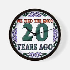 20th Wedding Anniversary Wall Clock