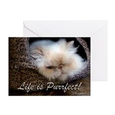 Life is Purrfect Greeting Card