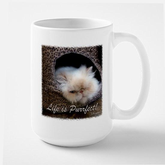 Life is Purrfect Large Mug