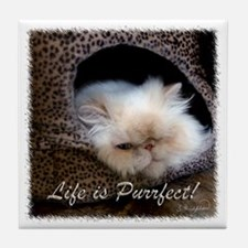 Life is Purrfect Tile Coaster