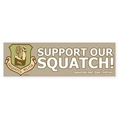 'Support Our Squatch' Boulder Bumper Sticker