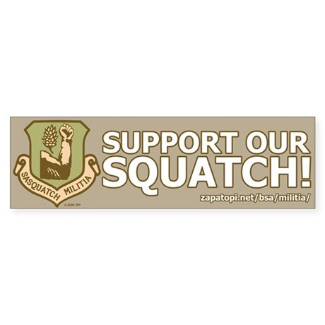 'Support Our Squatch' Boulder Sticker