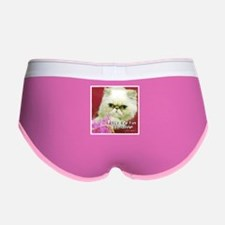 White Persian and Pink Women's Boy Brief