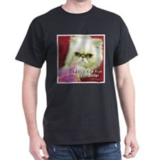 White Persian and Pink T-Shirt
