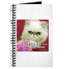 White Persian and Pink Journal
