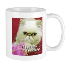 White Persian and Pink Mug