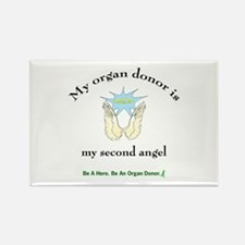 Organ Donor Angel Wings Rectangle Magnet
