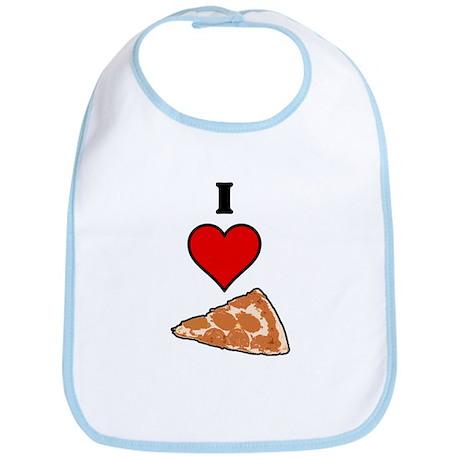 I heart Pizza Slice Bib