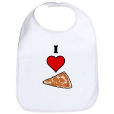 I heart Pizza Slice Bib