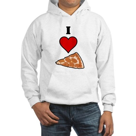 I heart Pizza Slice Hooded Sweatshirt