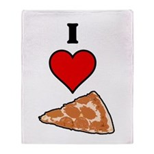 I heart Pizza Slice Throw Blanket