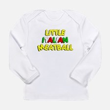 Little Italian Meatball Long Sleeve Infant T-Shirt