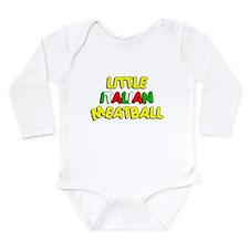 Little Italian Meatball Long Sleeve Infant Bodysui