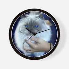Himalayan Blue Wall Clock