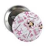 "Cute Fairytale Princess 2.25"" Button"