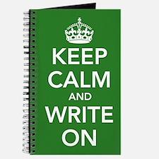 Keep Calm and Write On Journal