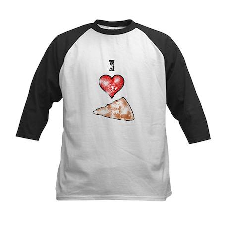 Vintage I Heart Pizza Slice Kids Baseball Jersey