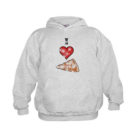 Vintage I Heart Pizza Slice Kids Hoodie