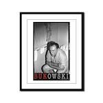 Framed Panel Print BUKOWSKI ON THE CAN