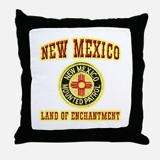 New Mexico Mounted Patrol Throw Pillow