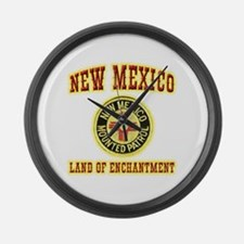 New Mexico Mounted Patrol Large Wall Clock