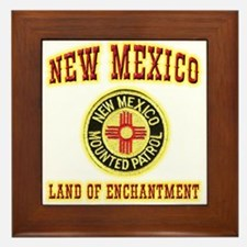 New Mexico Mounted Patrol Framed Tile