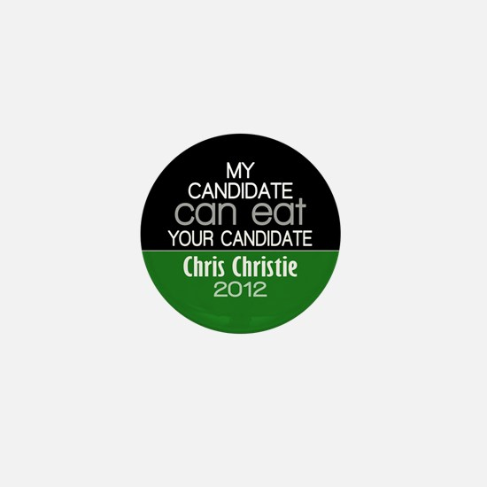 Funny Chris Christie 2012 Mini Button