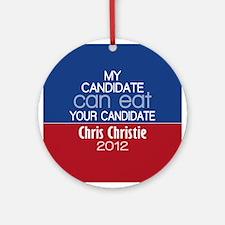 Funny Chris Christie 2012 Ornament (Round)