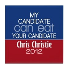 Funny Chris Christie 2012 Tile Coaster