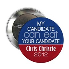 "Funny Chris Christie 2012 2.25"" Button"