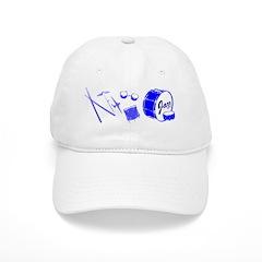 Jazz Drums Blue Baseball Cap