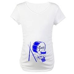 Jazz Drums Blue Shirt