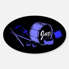 Jazz Drums Blue Decal