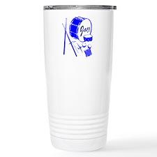 Jazz Drums Blue Travel Mug