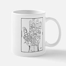 1640 Palmistry Hand Mug