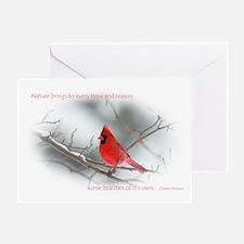 Nature-Red Cardinal Greeting Card