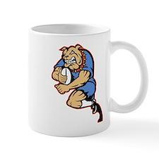 Bulldog playing rugby Mug