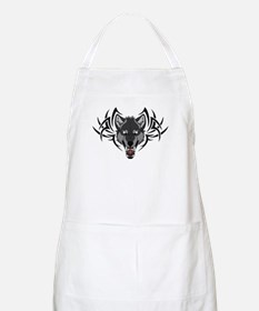 Angry Werewolf Tribal - Gray Apron