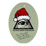 Pyramid Eye Feliz Navidad Ornament