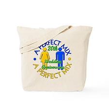20th Wedding Anniversary Tote Bag