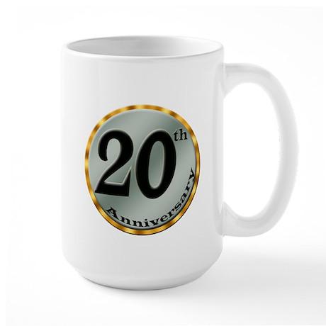 20th Wedding Anniversary Large Mug