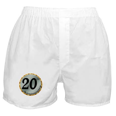 20th Wedding Anniversary Boxer Shorts